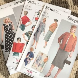 Vintage style Simplicity sewing patterns